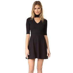 Susana Monaco Black Mock Neck Fit & Flare Dress